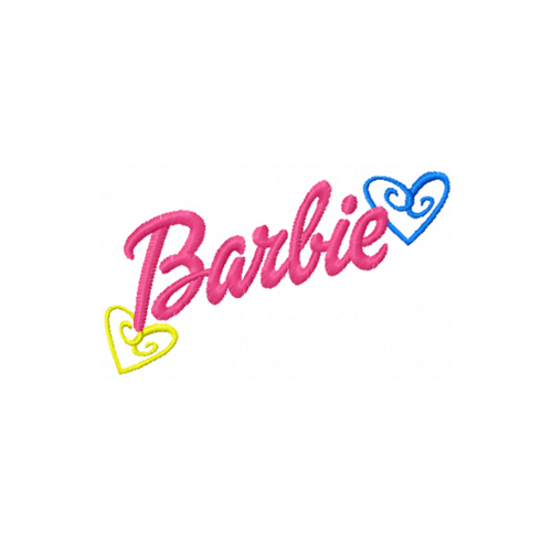 Barbie Logo Machine Embroidery Design Instant Download Machine Embroidery Designs Embroidery Designs Machine Embroidery