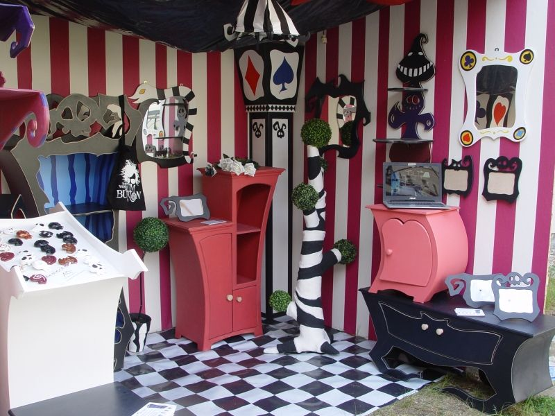 Second Pic Of Our Booth At 2016 S Wgt House Furniture Design Goth Home Decor Alice In Wonderland Diy