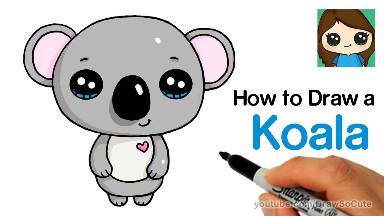 How To Draw A Koala Super Easy And Cute Youtube Drawing And Art