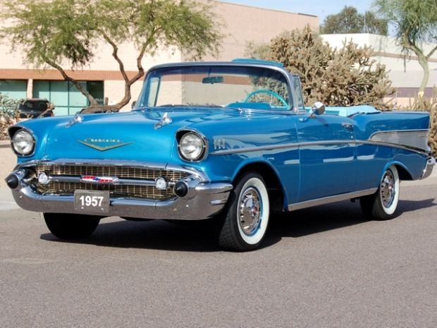 1957 Chevrolet Bel Air Convertible Had One Just Like This Same