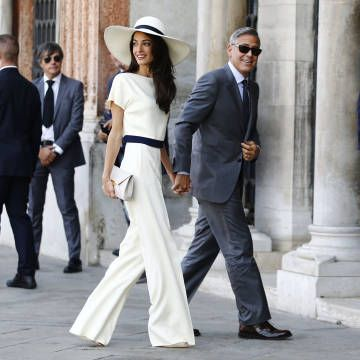 George Clooney and Amal Alamuddin have civil ceremony and are officially married, see the pictures here: