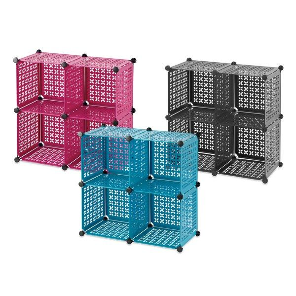 Plastic Cube Grids In Teal Cube Grid Offers Convenient Storage And