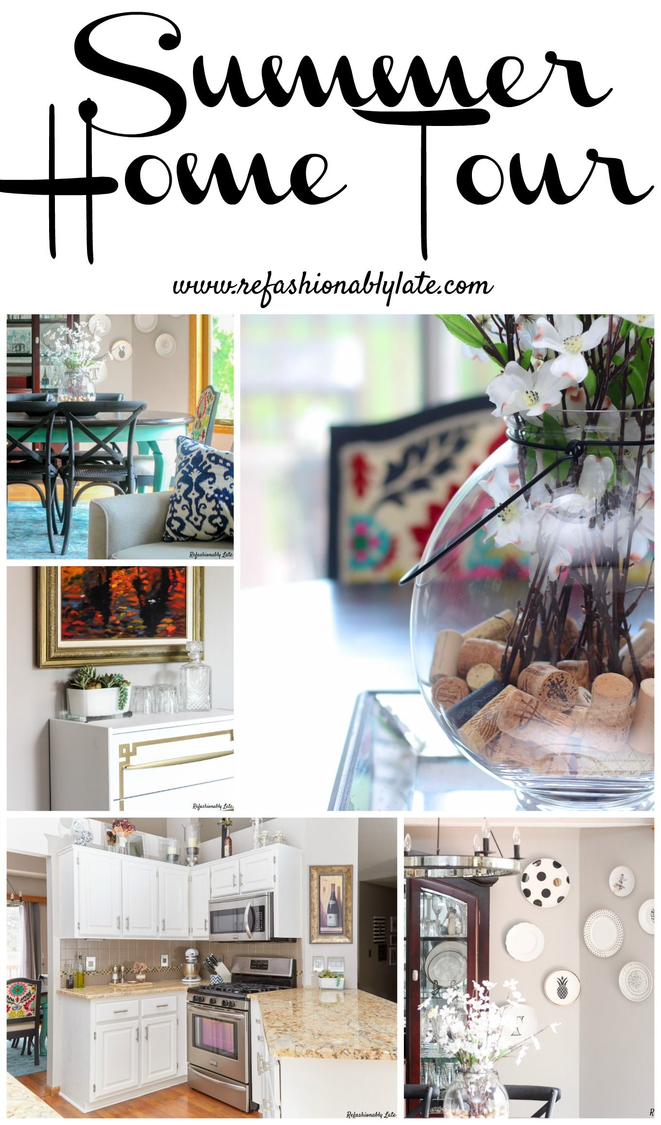 Welcome to my home, please come in and join me for a tour!   www.refashionablylate.com