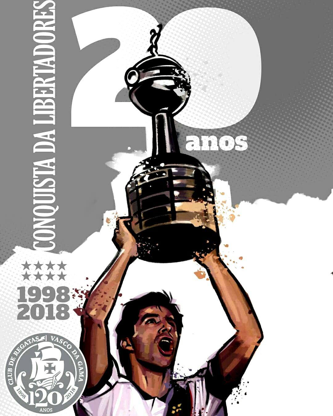 ecb0a9313 Vasco Libertadores 💢♥⛿ Edu 20 anos 1998-2018