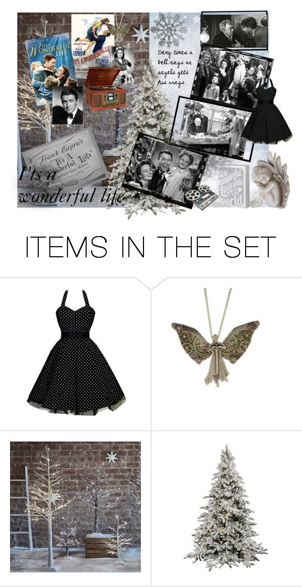 """""""Greatest Christmas movie : It's a wonderful Life"""" by emilie-in-paris ❤ liked on Polyvore featuring art"""