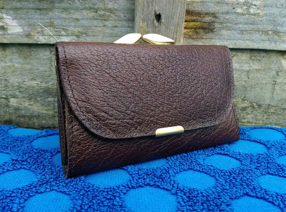 Vintage Womens Brown Leather Purse Made In England Boxed For 25+ Years But New  #MadeInEngland #CoinPurse