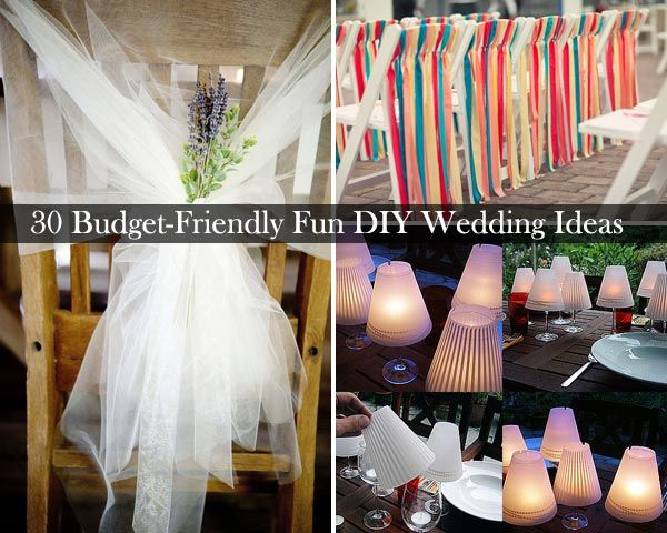 DIY Wedding Ideas On A Budget. Make Original Wedding Decorations ...