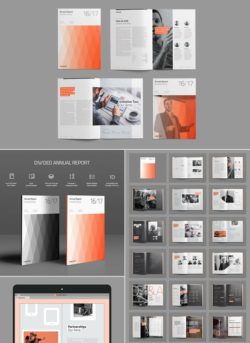 15+ Annual Report Templates - With Awesome InDesign Layouts   Design ...