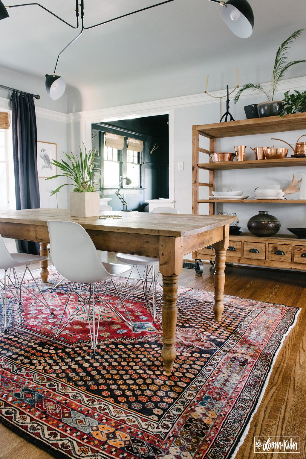 dining room styled by loom kiln dining room style dining room rug bohemian dining room on boho chic dining room kitchen dining tables id=51381