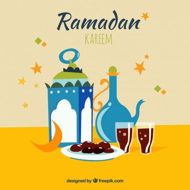 Iftar ramadan card Premium Vector | raya & ramadan | Pinterest ...