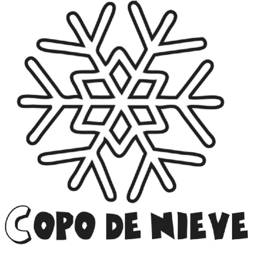 Imprimir Dibujo Copo Nieve Para Pintar Pictures | Invierno ...