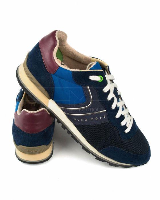 de8aa85803e Zapatos Hugo Boss Negros   Oro - Velocity Runn Logo