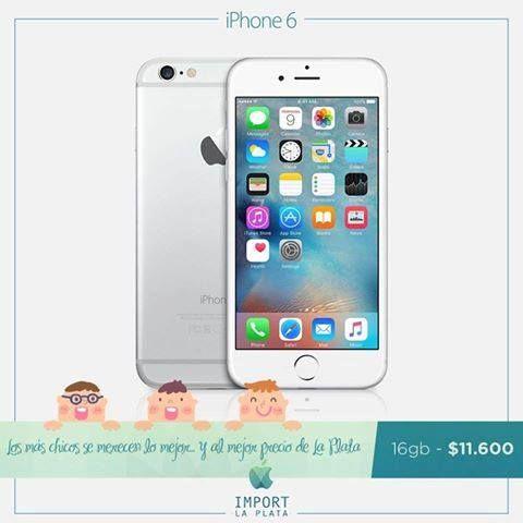 ¡En el día del niño, regalales lo mejor y al mejor precio de La Plata!  Iphone 6 de 16 GB a tan solo $ 11.600.  Garantía escrita / Se retira por nuestra oficina comercial en La Plata / Consultas por INBOX o Whatsapp 022-136-14436  iPhone 5s 16 4g $8.800 iPhone 5s 16 3g $7.500 iPhone se 16 sin caja $9.600 iPhone se 16 $10.700 iPhone 6 16 $11.700 iPhone 6 64 $13.200 iPhone 6 128 $14.500 iPhone 6s 16 $13.500 iPhone 6s 64 $15.400 iPhone 6s 128 $17.100 iPhone 6 plus 16 $13.000 iPhone 6 plus 64…