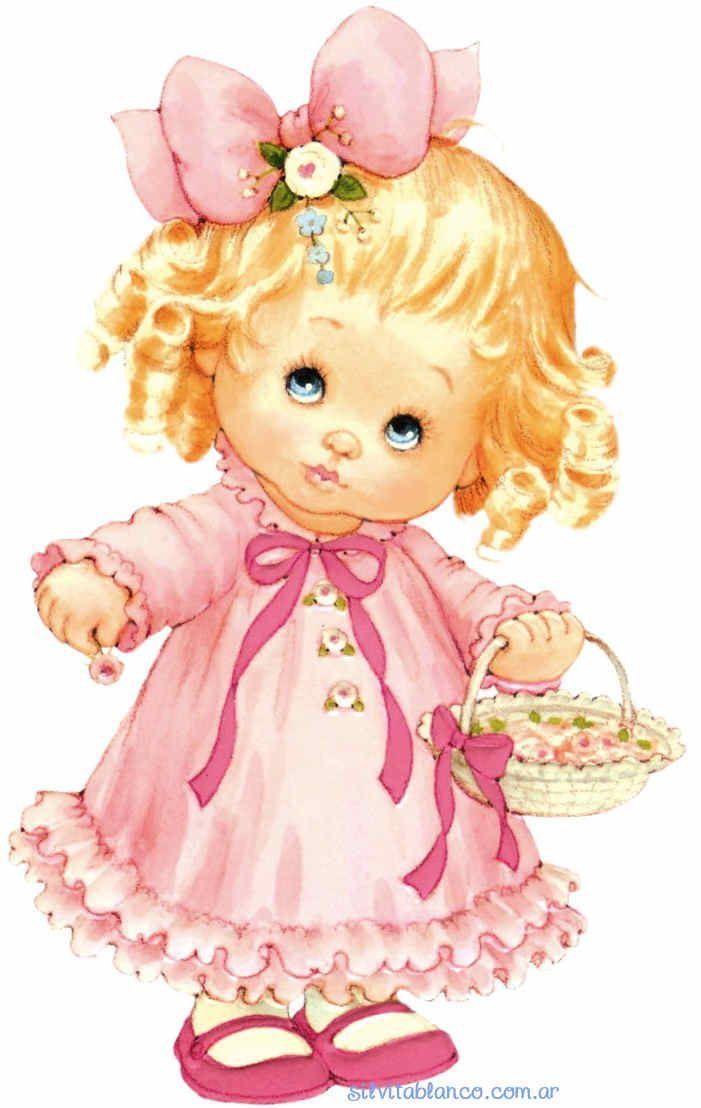 Картинка маленькой девочки нарисованной