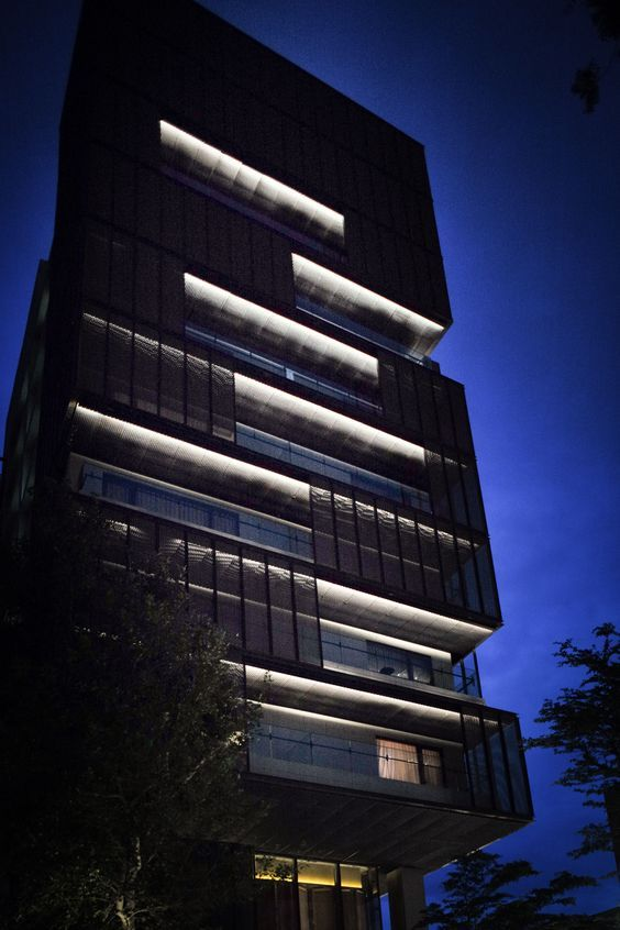Pin by ann lu on highrise facade lighting architectural - Exterior architectural led lighting ...