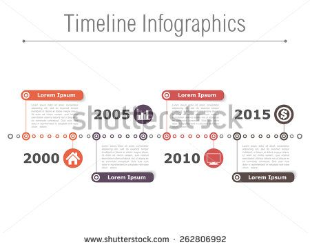 Horizontal Timeline Infographics Design Template Vector Eps