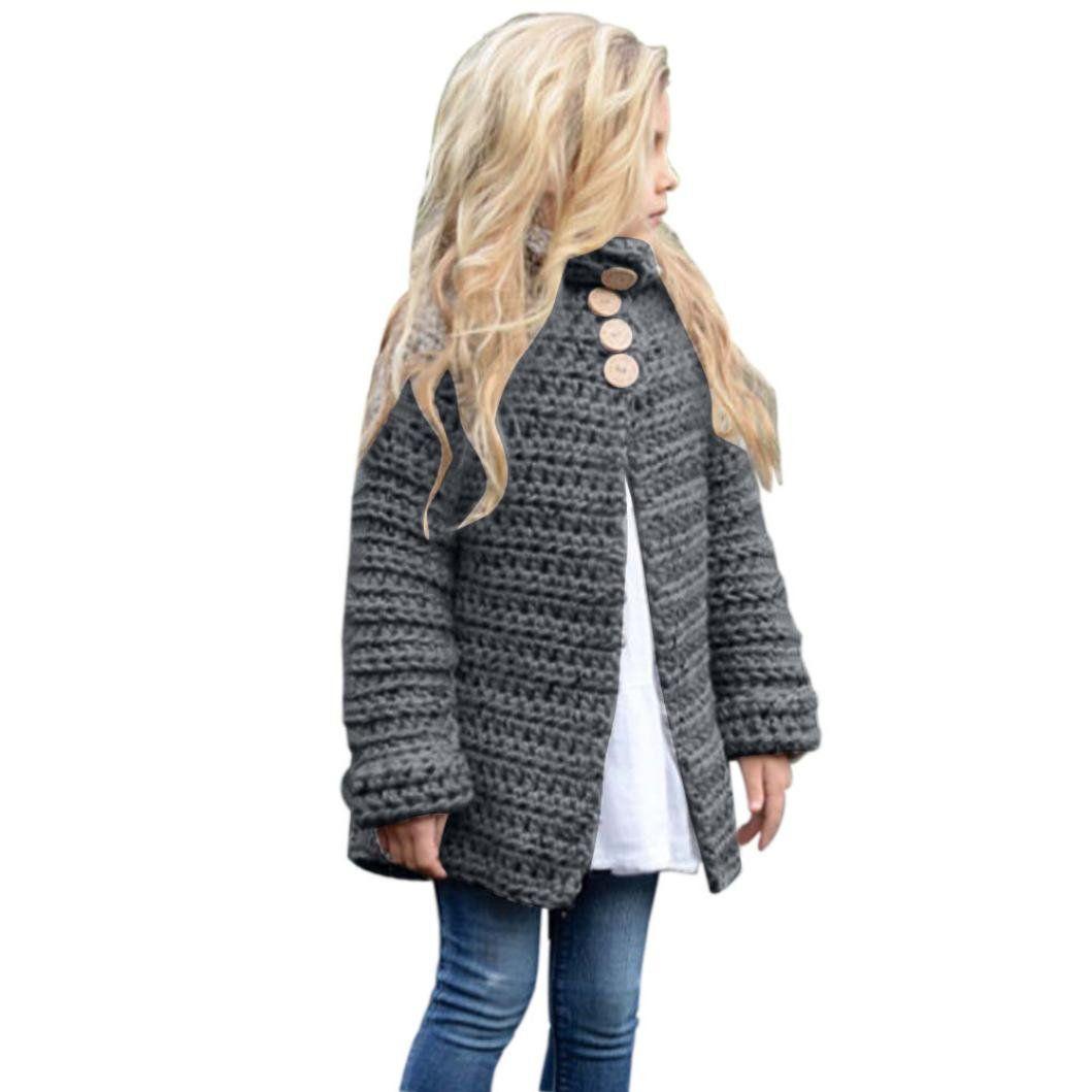 12a2600b26a8 Sunbona Toddler Baby Girls Cute Autumn Button Knitted Sweater ...