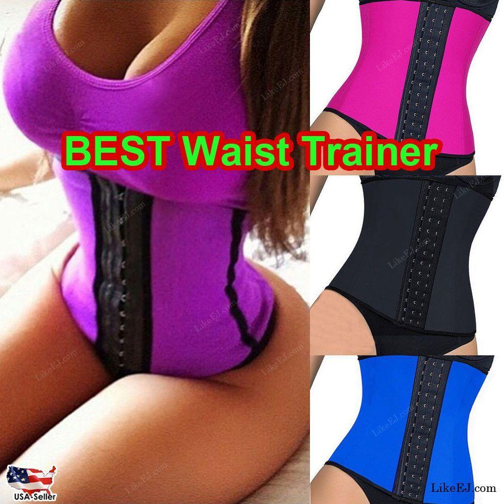 f0182ba1e5a Women Body Shaper Waist Trainer Cincher Yoga Workout Wear Corset ...
