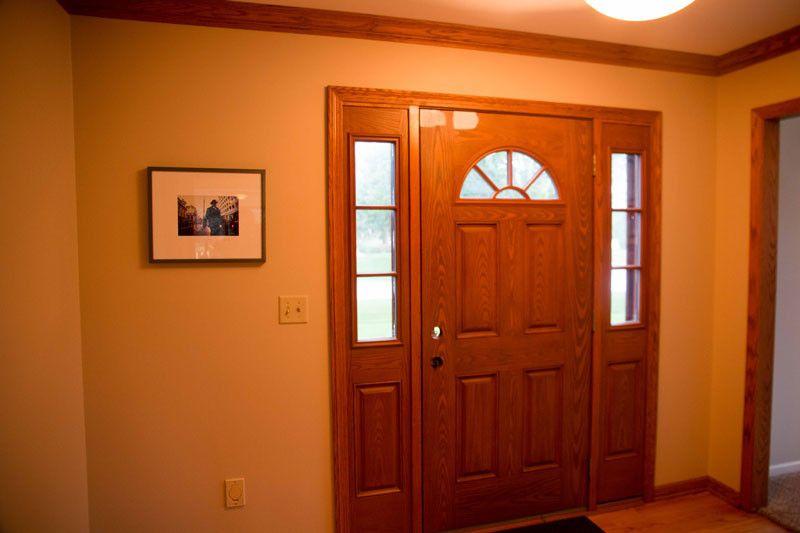 How to paint a fiberglass door oak trim painted doors
