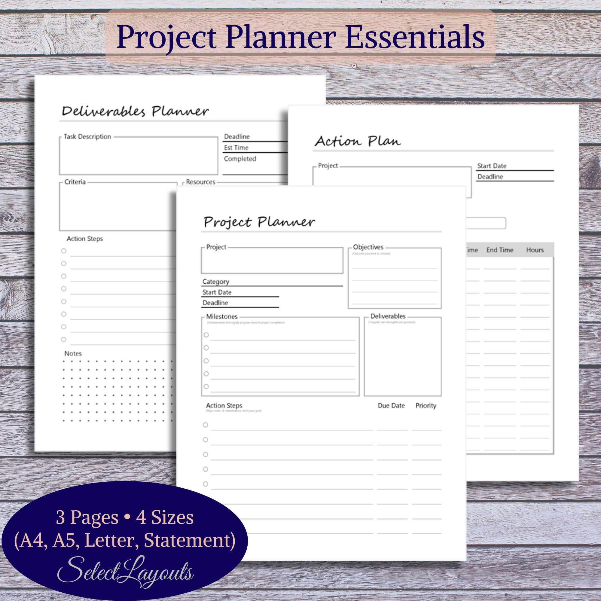 Project Planner Printable Pdf Template Project Planner