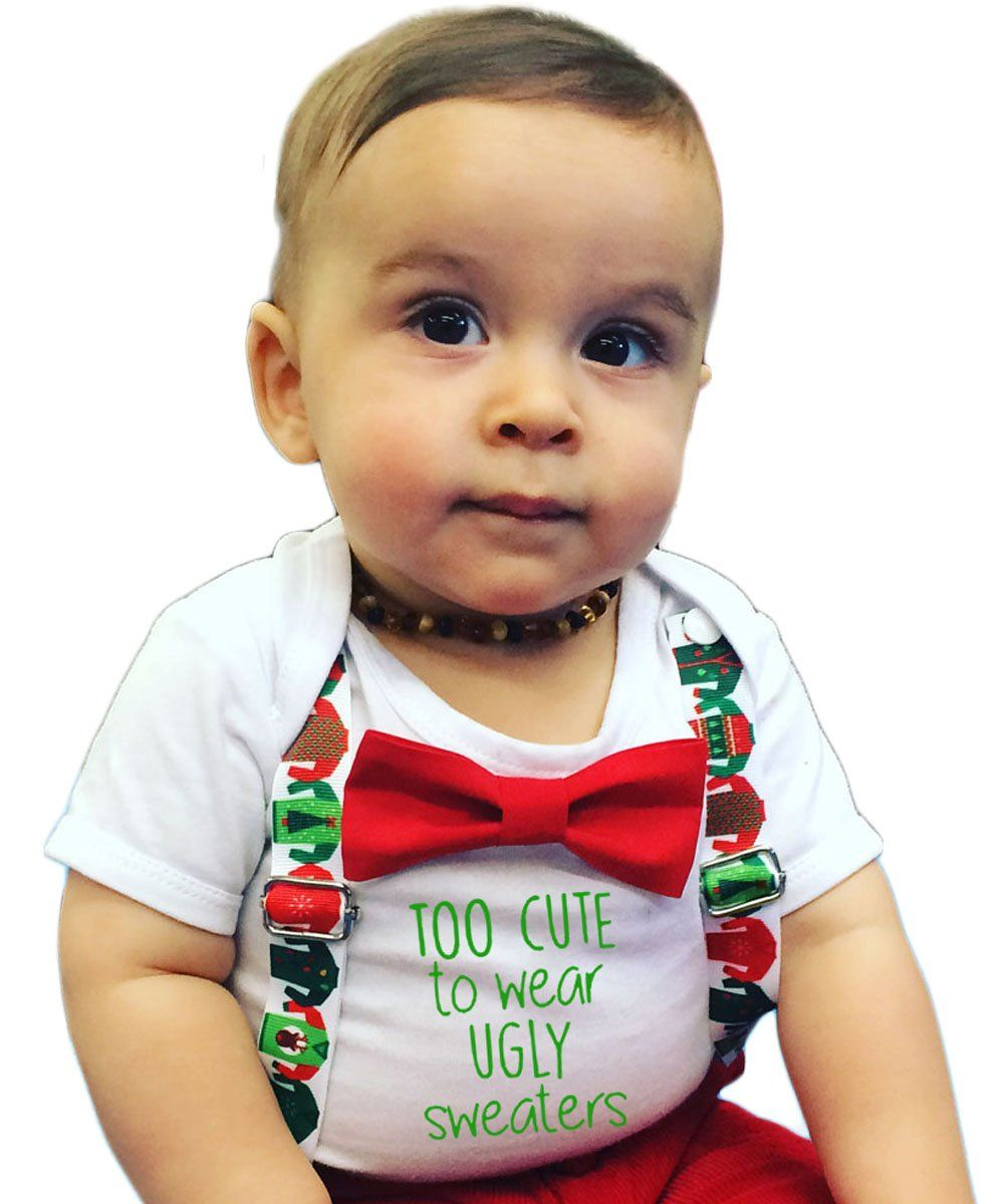 de4b50fd8 Christmas Outfit Baby Boy Too Cute For An Ugly Sweater | Baby Boy ...