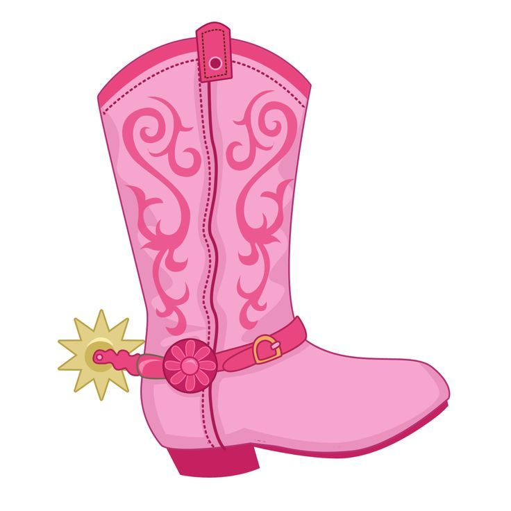 c53627bd065 Cowgirl pink boots boots and on clip art | Clipart | Cowgirl party ...