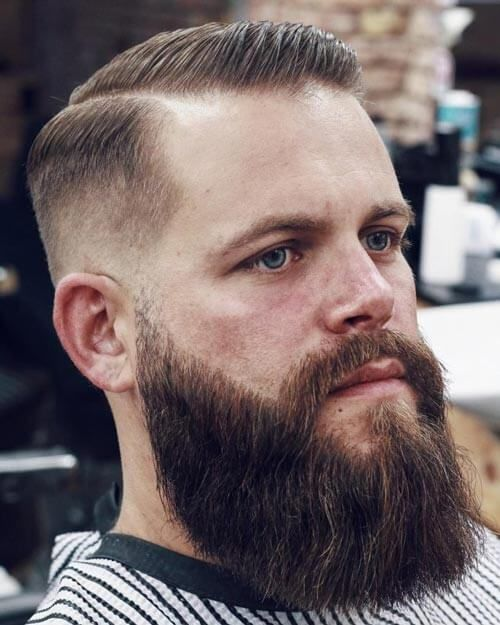 Deep Parted High Fade With Beard Receding Hair Styles Cool Hairstyles For Men Mens Hairstyles