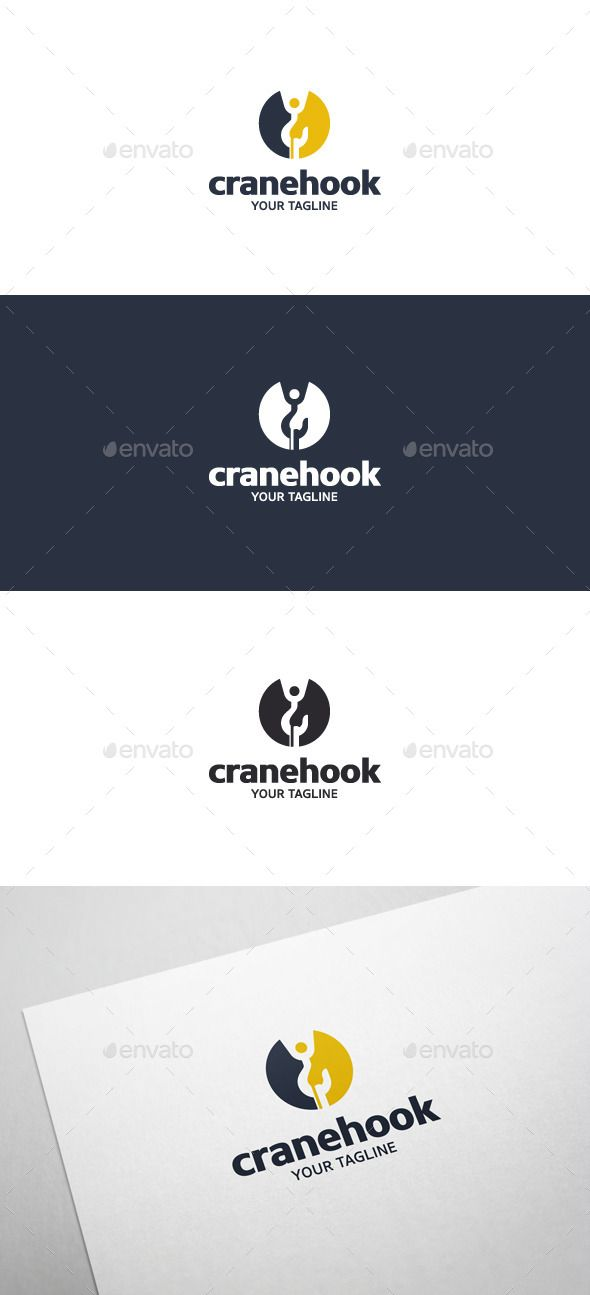 Crane Hook - Logo Template | Logo templates, Template and Logos