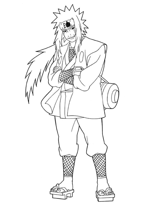 Jiraiya Pose Naruto Sketch Naruto Drawings Cute Coloring Pages