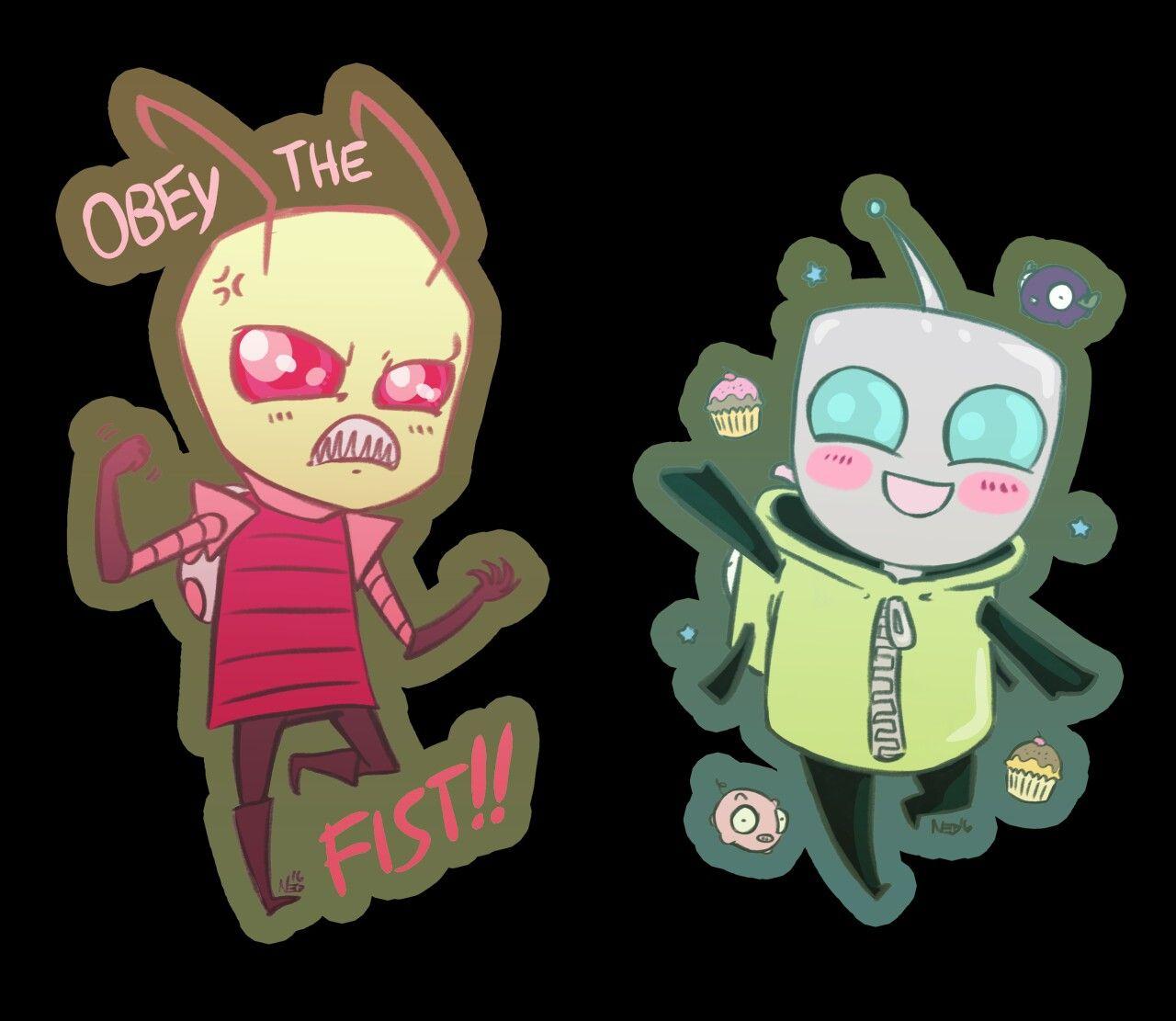 Invader Zim, Gir, Zim, Cuties, OBEY THE FIST !!!!!!!