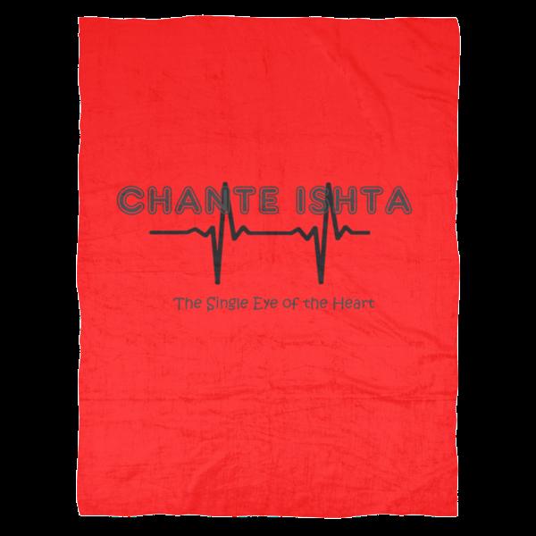 "Chante Ishta ""The Single Eye Of The Heart"" Fleece Blanket (80"" x 60"" Large)"