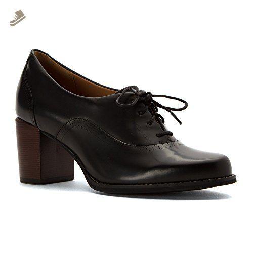 14ea55a924484 Clarks Womens Tarah Victoria Black Leather Pump 10 B (M) - Clarks ...