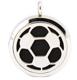 Soccer Stainless Steel Diffuser Locket-Locket-Adorn & Diffuse-Default Title-Adorn & Diffuse