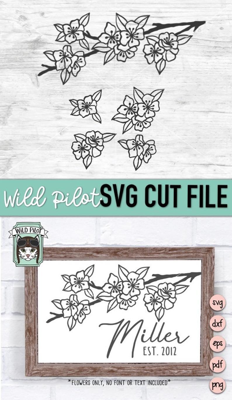 Cherry Blossom Svg : cherry, blossom, Files, Vector