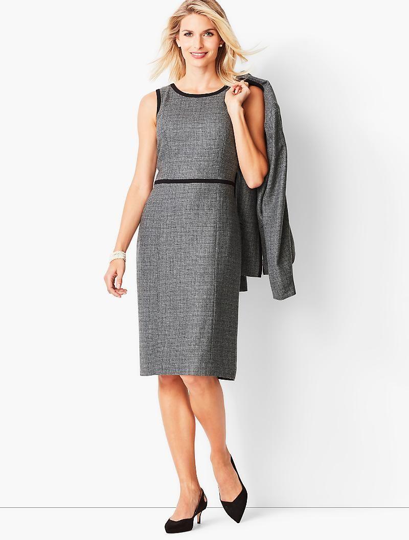 92e6e61ee6 Italian Luxe Tweed Sheath Dress