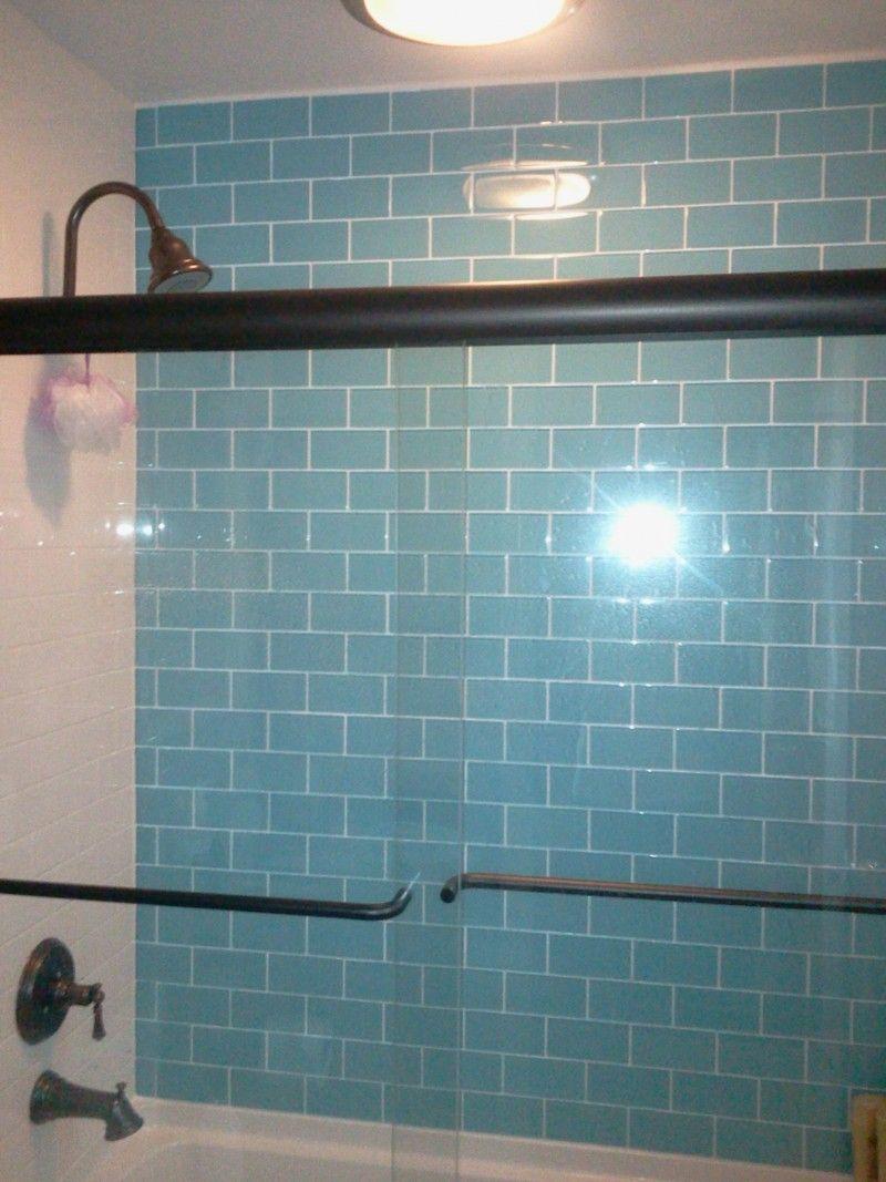 Loft Turquoise 3x6 Polished Glass Tile | TileBar.com | Backsplash ...