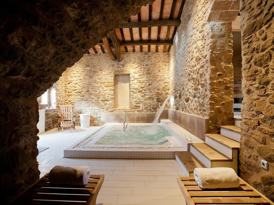 Pin By Lili On Pasiegan Valleys Cottage Home Spa Room Home Spa Indoor Pool Design