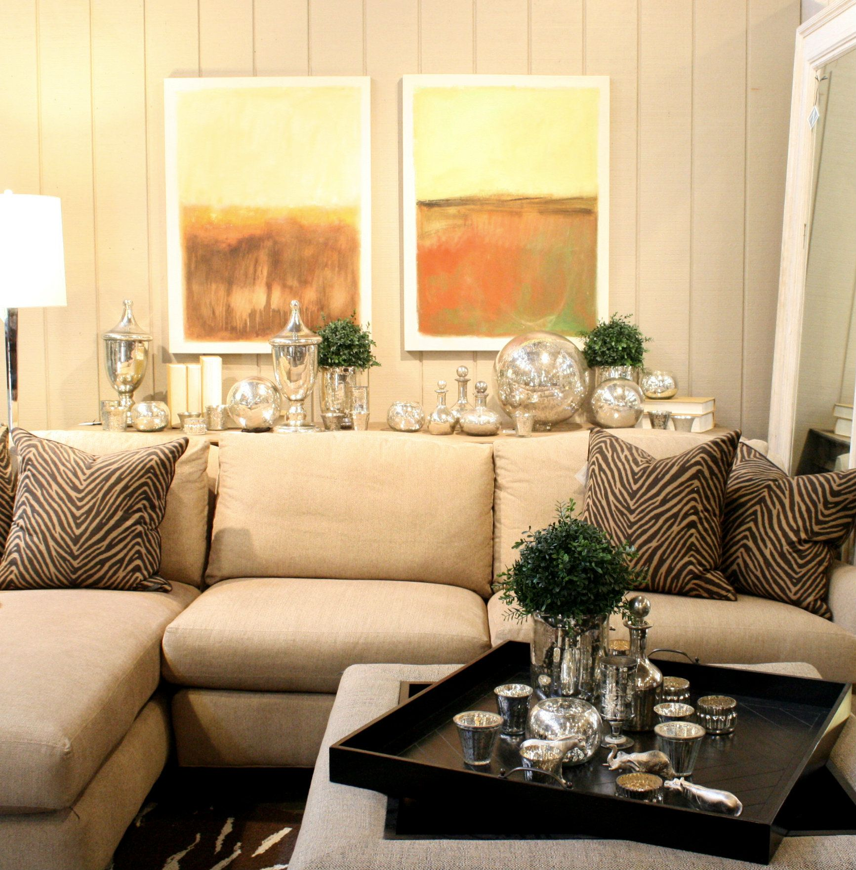this would look nice in my living room Linato sofa with zebra accent ...