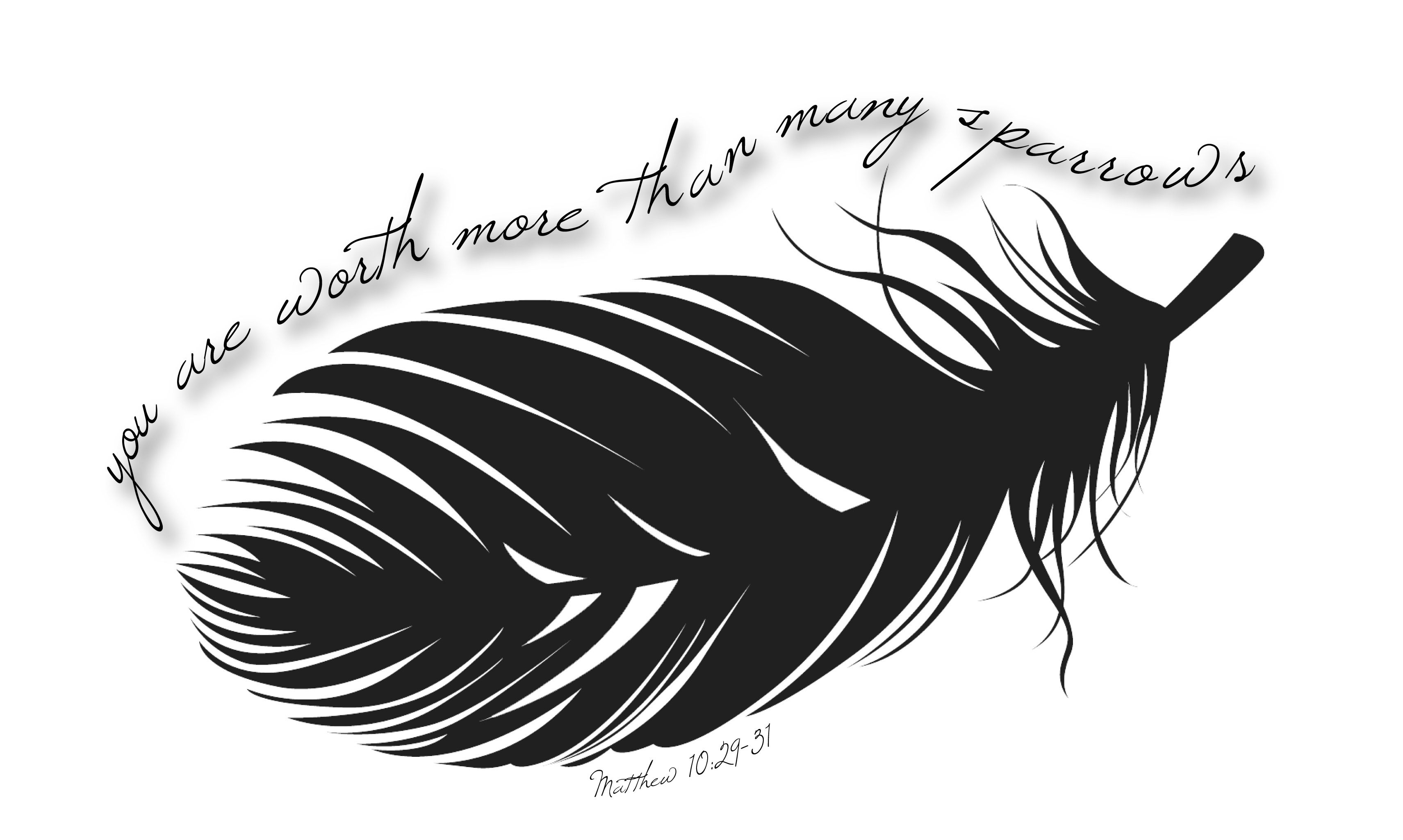 You are worth more than many sparrows tattoo