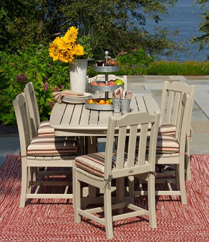 All Weather Dining Table 72 X 37 At L Bean