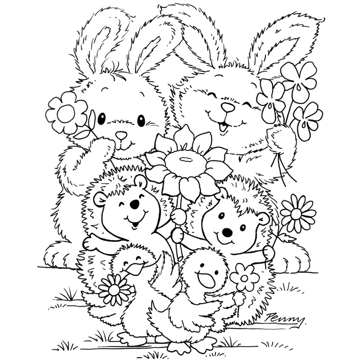 PJ - Flower Friends OPEN IMAGE ONLY IN NEW TAB OR IT WILL ...