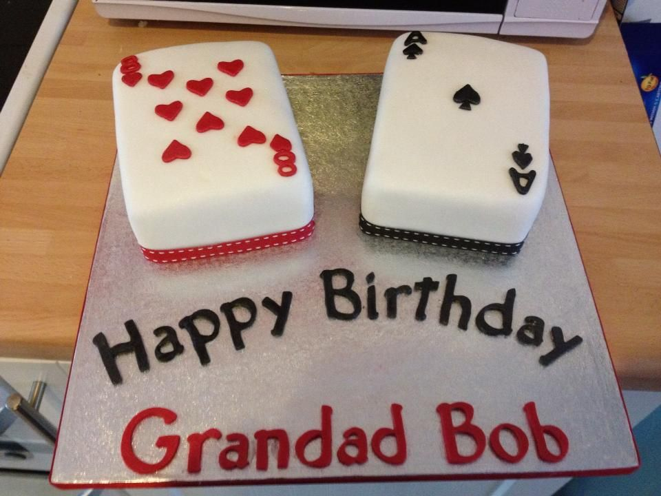Birthday Cakes Ideas For My Husband ~ Playing card birthday cake cake i made for my husbands grandads