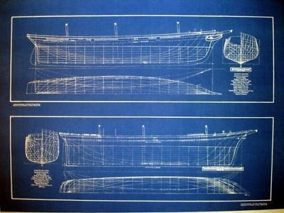 Clipper ships half hulls blueprint plans set of 2 full size clipper ships half hulls blueprint plans set of 2 full size blueprints malvernweather Images