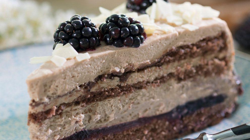 Brombeer-Nougat-Torte #brombeerenrezepte