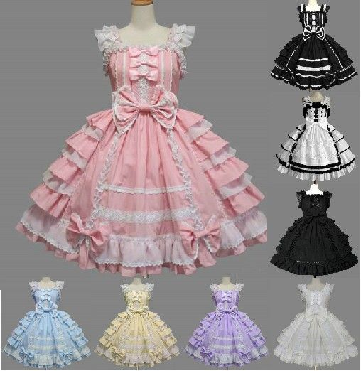 Cosplay Lolita Dress Women Formal Spaghetti Strap Dress Japanese Anime Maid  Lace Costume Halloween Party Waitress Sexy Girl Use 9c0d9b7cc