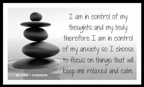I'm in control....