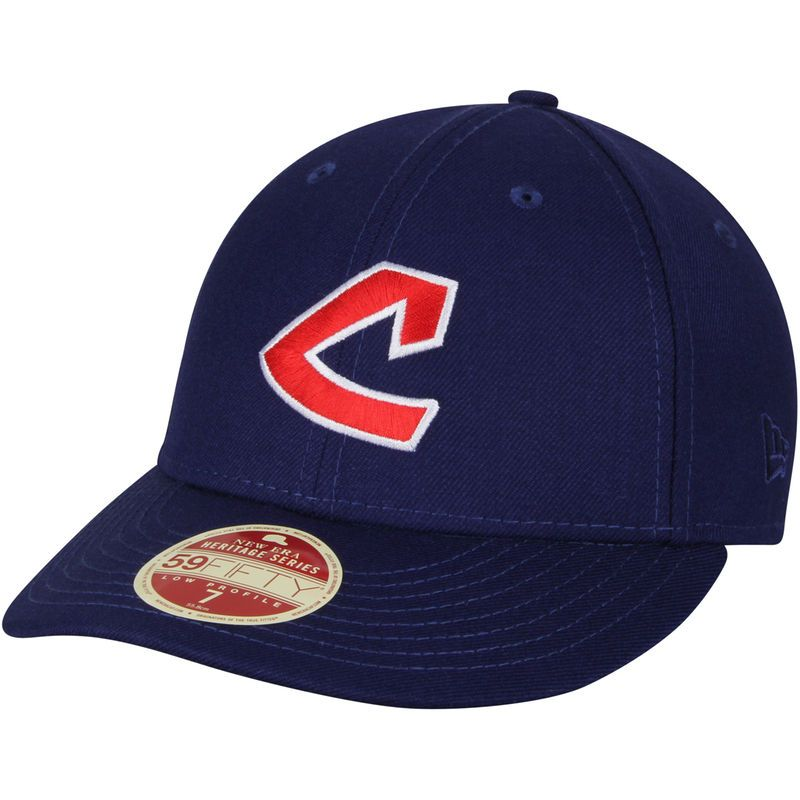 Cleveland Indians New Era Cooperstown Collection Vintage Fit 59FIFTY Fitted  Hat - Navy 358bdbd5939