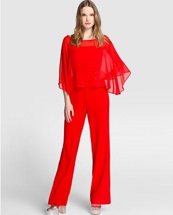 b472c75b086e Mono de mujer Fórmula Joven rojo con capa | jumpsuits | Trajes de ...