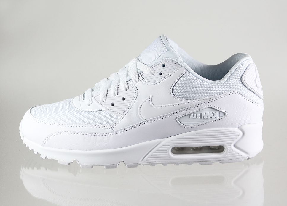 all white air max