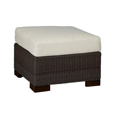 Summer Classics Club Woven Outdoor Ottoman with Cushion | Perigold
